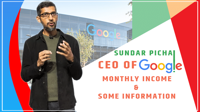 Google CEO sundar pichai monthly salary in indian rupees